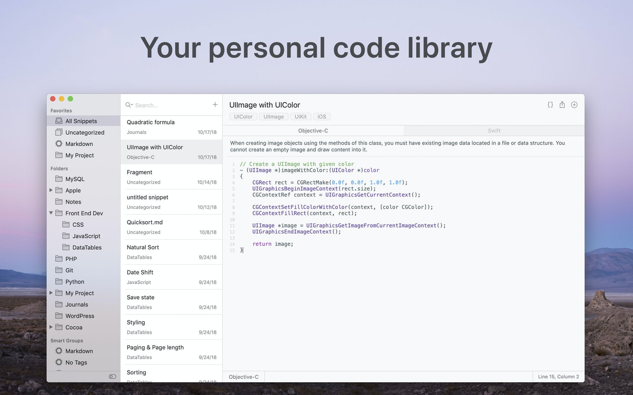 Code library