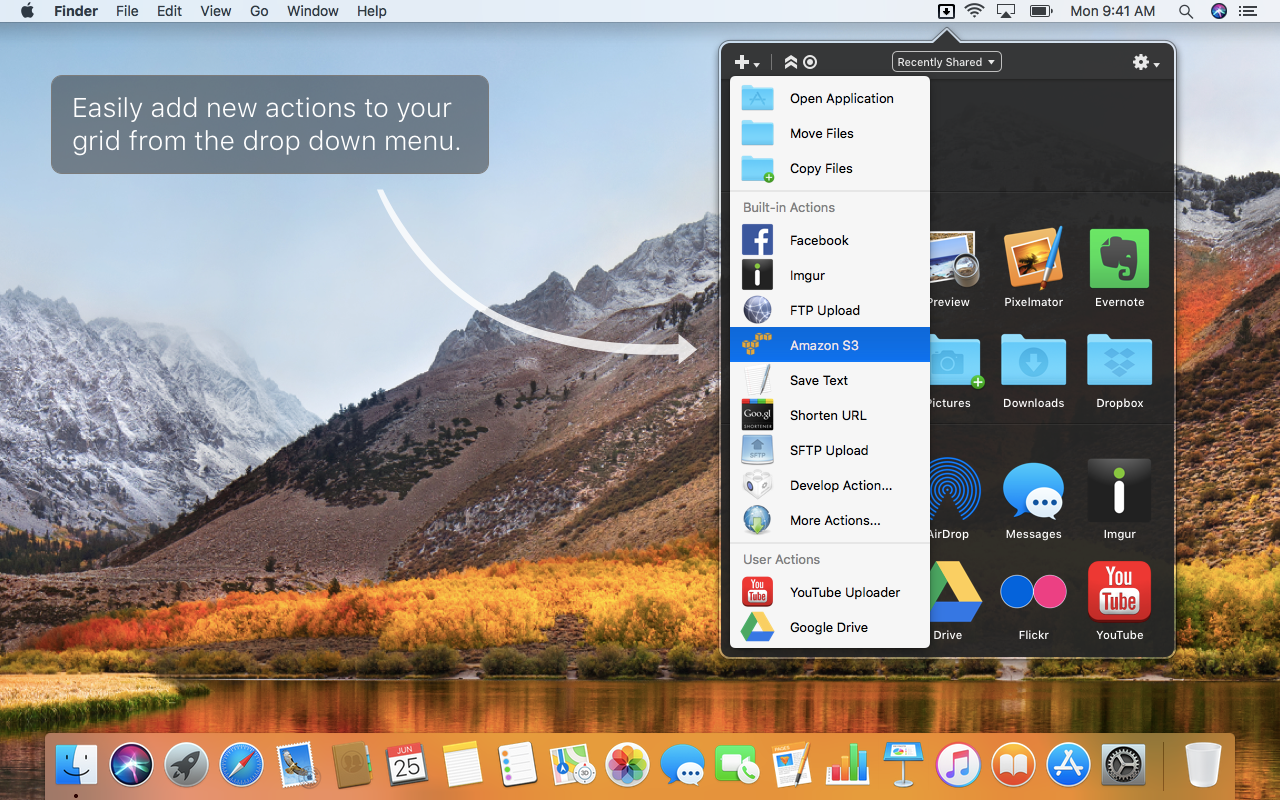 Dropzone on Setapp | The ultimate drag-and-drop productivity Mac app