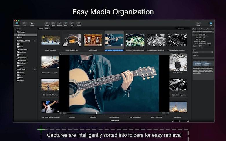Organizar los archivos multimedia.