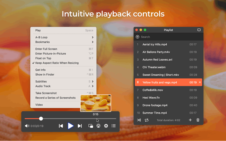 Intuitive playback controls
