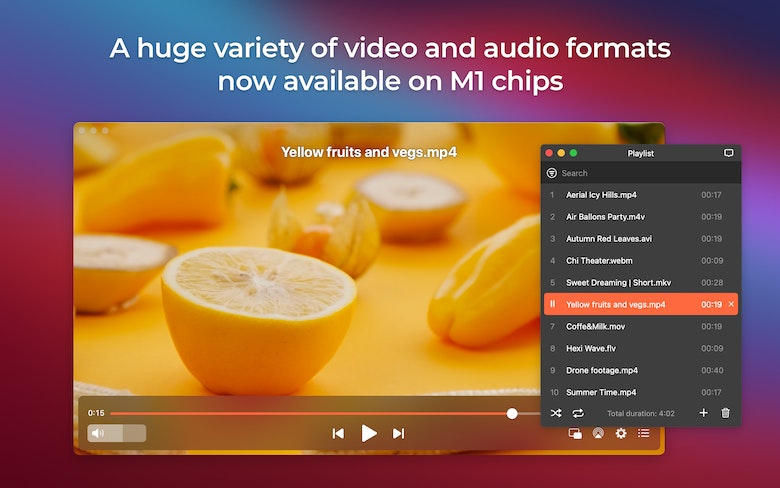 A huge variety of video and audio formats now available on M1 chips