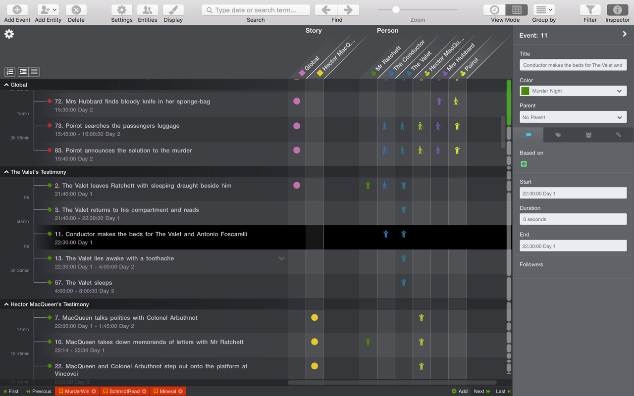 Como criar relatórios visuais de projetos e mostrar comunicações cronologicamente com o Aeon Timeline.