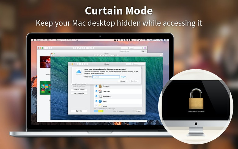 Keep your Mac desktop hidden while accessing it - Screens Curtain Mode