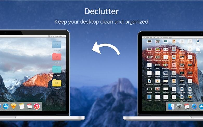 L'app Declutter vous permet de profiter d'un bureau propre et bien organisé.