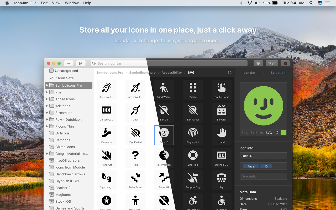IconJar on Setapp | Store all your icons in one place, just a click away