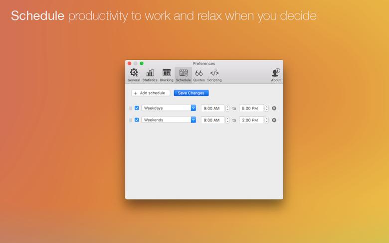 Planifiez votre productivité pour travailler et vous détendre quand vous le souhaitez.