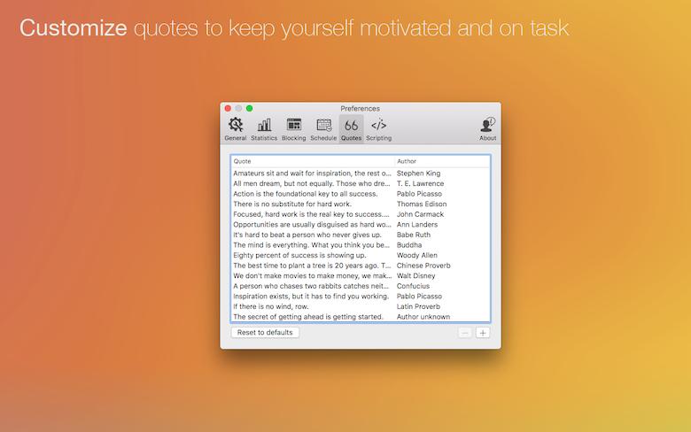 Personnalisez des citations pour garder la motivation et atteindre vos objectifs.