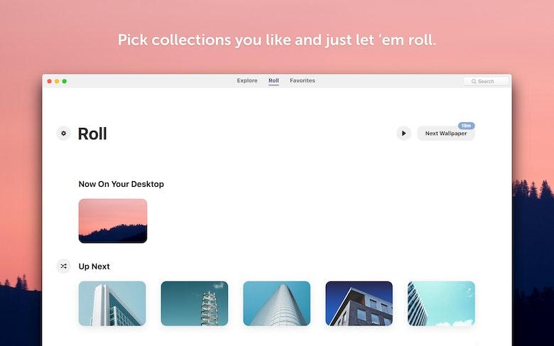 Elige las colecciones que más te gustan y se reproducirán en bucle.