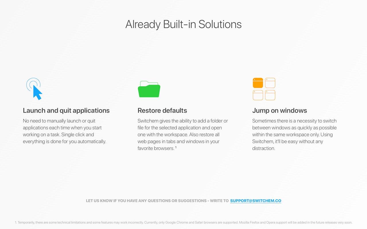 Switchem on Setapp | Create custom workspaces and switch away