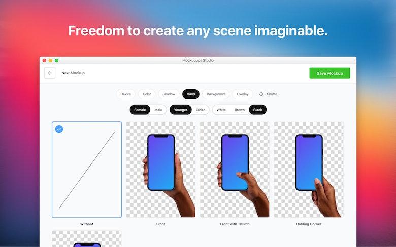 Freedom to create any scene imaginable.