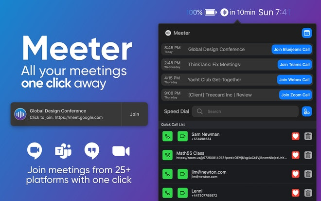 Join every meeting in a click