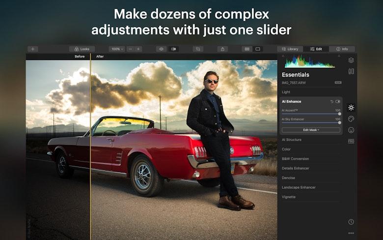 Make dozens of complex adjustments with just one slider