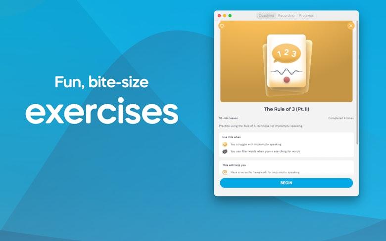 Fun, bite-size exercises