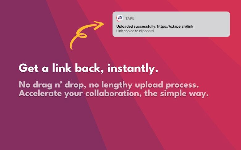 Get a link back, instantly.