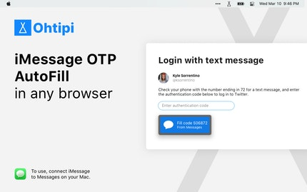 iMessage OTP AutoFill in any browser