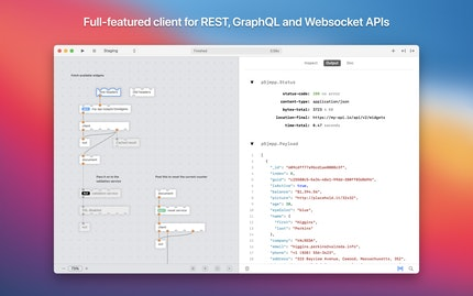 Full-featured client for REST, GraphQL and Websocket APIs