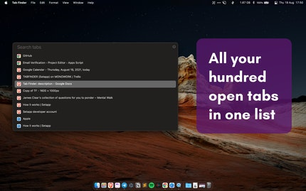All your hundred open tabs in one list