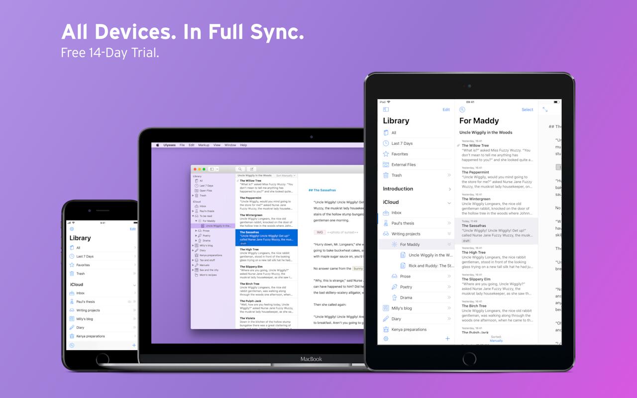 Ulysses on Setapp | Writing app and markdown editor