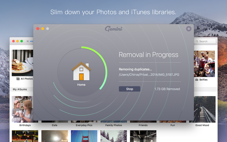 Slim down your Photos and iTunes libraries.