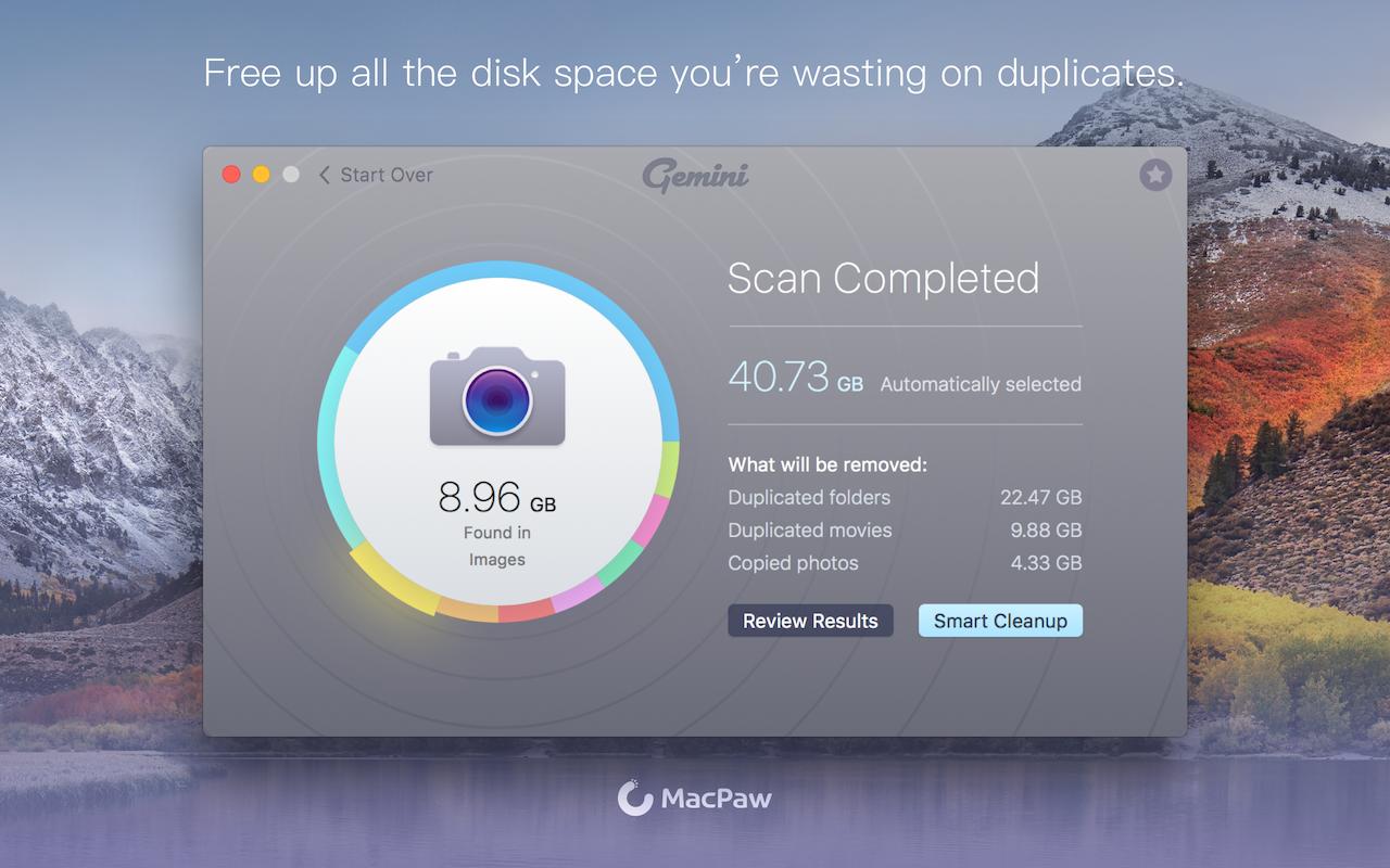 Räume all den Speicherplatz frei, den du für doppelte Dateien verschwendest.