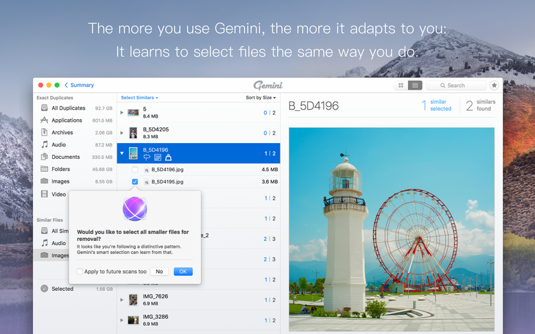 Gemini learns to select files the same way you do.
