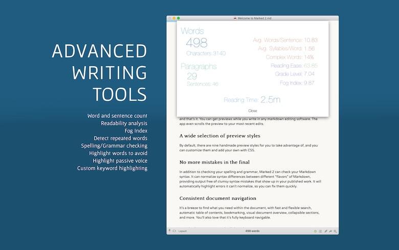Advanced writing tools.
