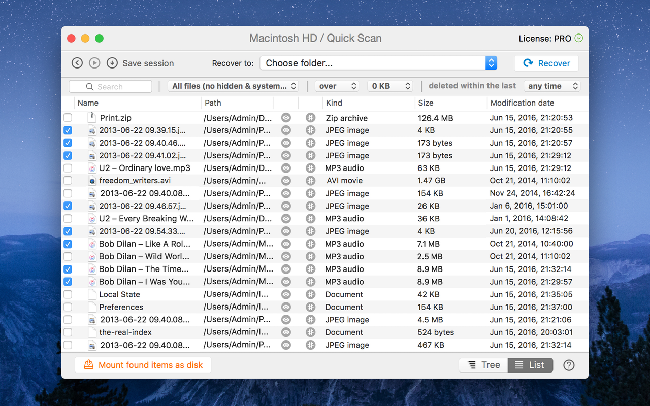 Analiza cualquier dispositivo de almacenamiento y recupera los datos perdidos en el Mac.